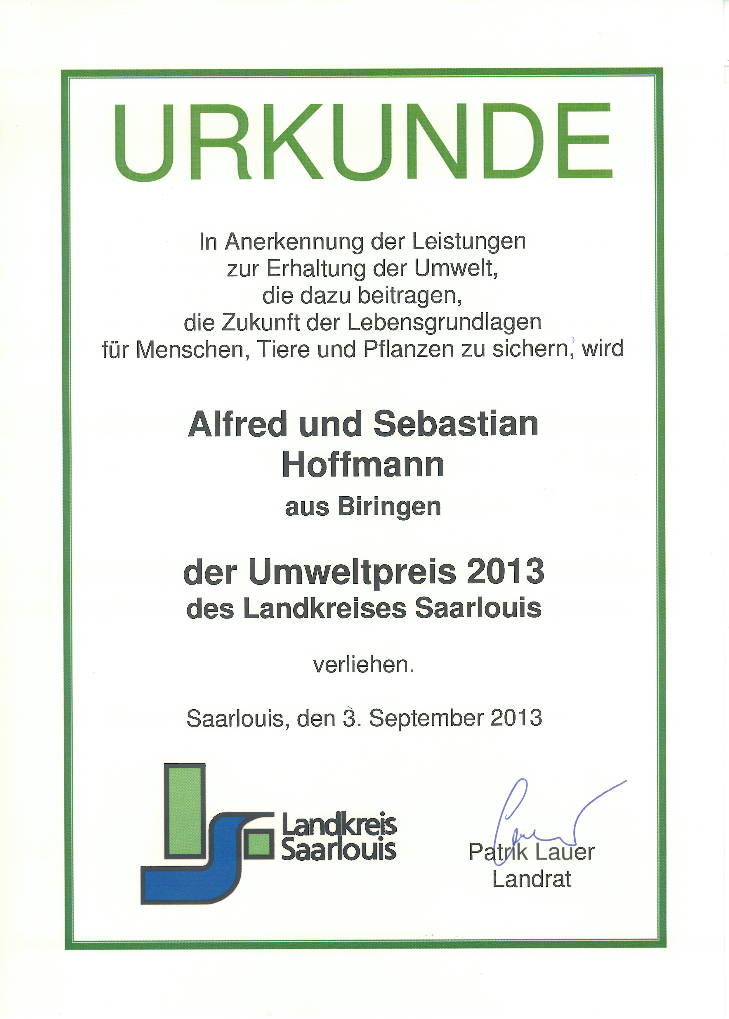 2013 09 03 Kreisumweltpreis