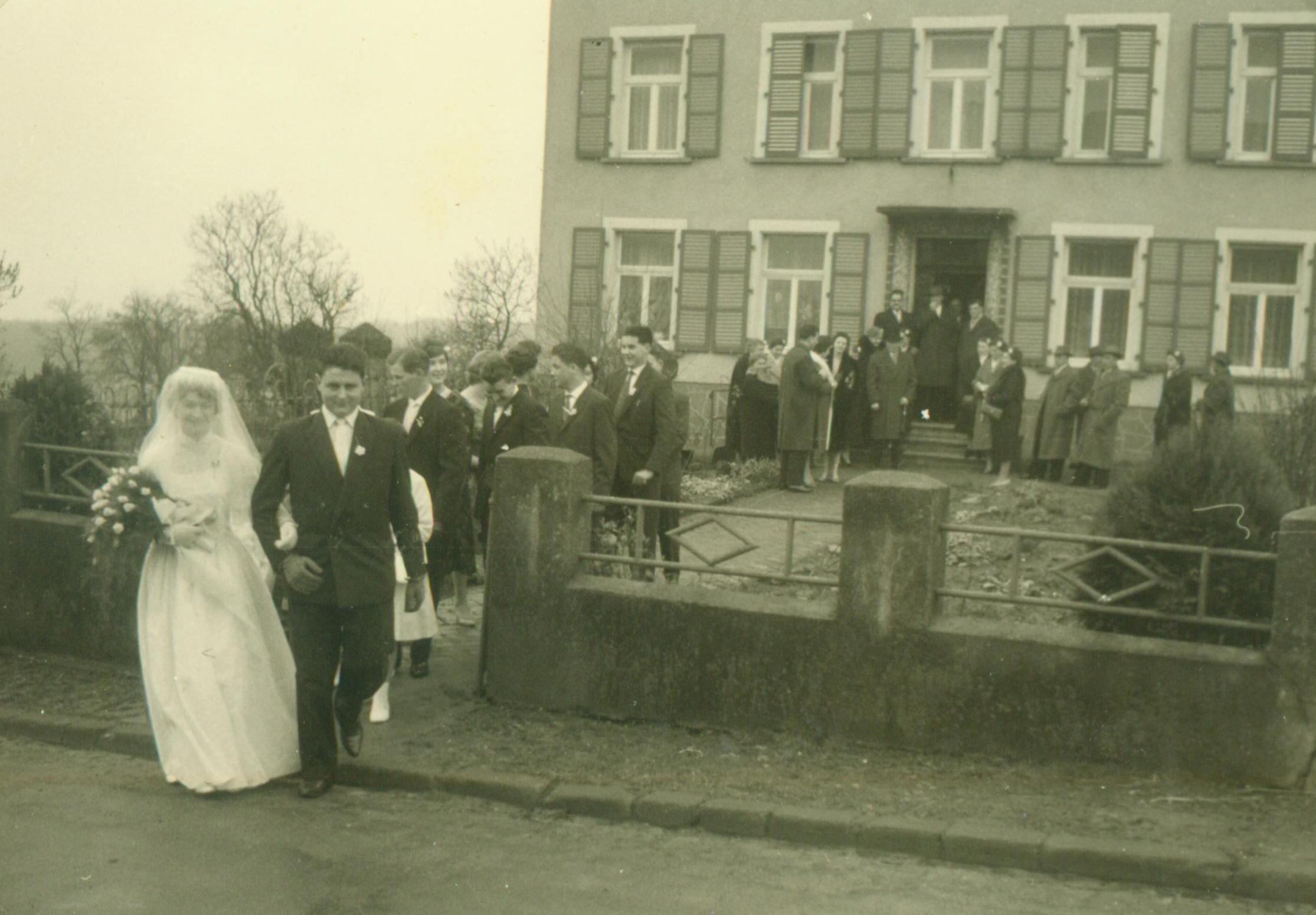 Hofgebäude um 1959