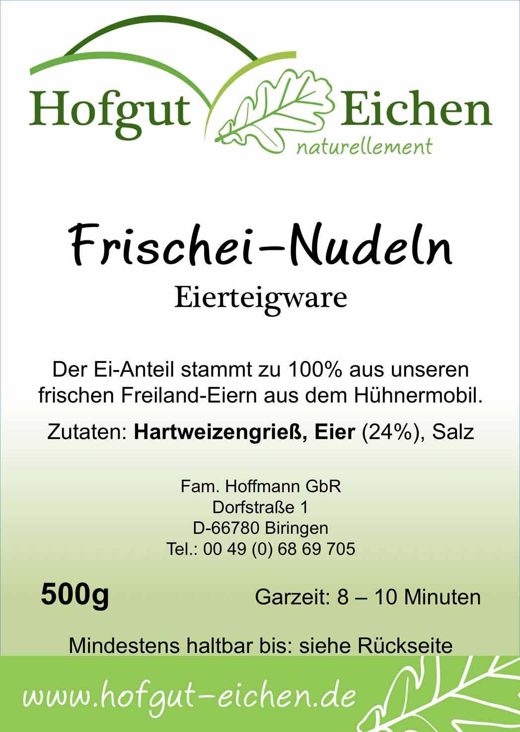 Frischei-Nudeln 500g